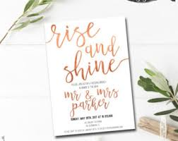 wedding brunch invitation post wedding brunch invitation printable rise and shine