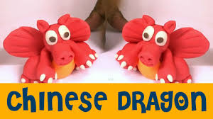 clay modeling of chinese red dragon dragon toys for kids magic