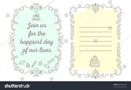 vector template wedding invitation lace frame stock vector