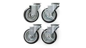 set of 4 casters for sheridan kitchen island crate and barrel