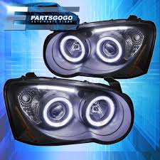 subaru headlight styles black housing dual halo projector led strip headlight for 04 05