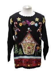 sweater house womens kitschy gingerbread house sweater beldoch