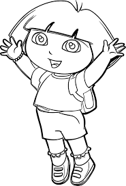 dora the explorer going to coloring page wecoloringpage