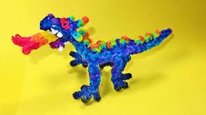 rainbow loom dragon charm fire breathing diy mommy youtube