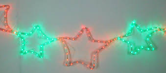 Christmas Rope Light Star by Red Green Led Rope Light Star Chain Christmas Garland 300cm X 40cm