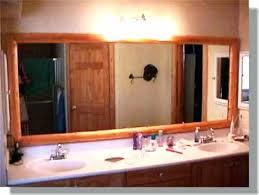 bathroom mirror trim ideas trim around bathroom mirror wood trim around bathroom mirror