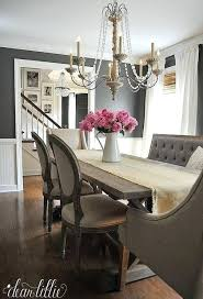 french country upholstered dining room chairs table centerpieces