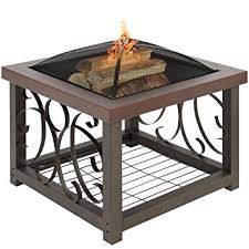 Firepit Patio Table by Amazon Com Best Choice Products Outdoor Cocktail Fire Pit Table