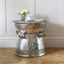 silver drum coffee table antique silver coffee table mad about the house