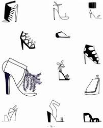 12 different ways to draw different types of shoes from the new