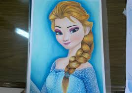 speed drawing elsa frozen hair color