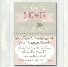brunch bridal shower invites items similar to pink and gray bridal shower invitation printable