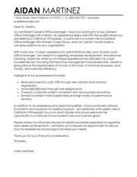 office manager cover letter best solutions of best admin general manager cover letter exles