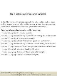 Resume Examples Sales by Top 8 Sales Cashier Resume Samples 1 638 Jpg Cb U003d1432789817