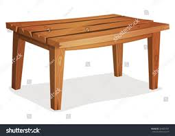 Wooden Table Background Vector Cartoon Wood Table Illustration Cartoon Funny Stock Vector