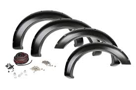 nissan tundra rough country pocket fender flares w rivets for 07 13 toyota
