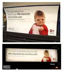 Advertising Meme - success kid le meme internet utilisé dans des affiches