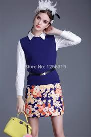 runway new women u0027s skirt suits beautiful ladies knitted vest work