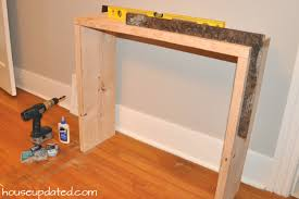 build a console table diy console table parsons style house updated