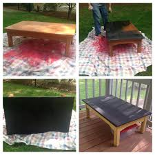 diy chalkboard coffee table crafts table paint table kids table