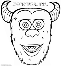 halloween monster coloring pages printable children colouring
