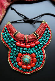 collar bib necklace images Large ladakh collar necklace from nepal JPG