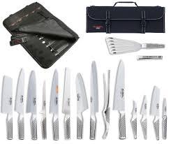 couteaux de cuisine global global premium mallette global 16 avec 13 couteaux et 3