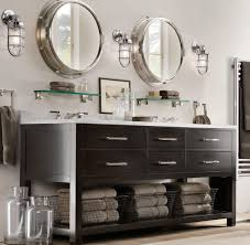 Mirrored Tall Bathroom Cabinet - open bathroom vanity ideas l shape stainless steel faucet