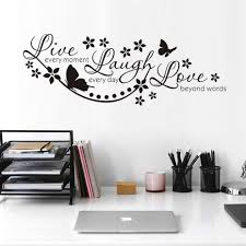live love laugh wall art promotion shop for promotional live love live laugh love wall art stickers butterfly star quote adesivo de parede removable vinyl wall sticker home garden decoration