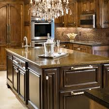 astonishing red color mahogany wood high end kitchen cabinets with