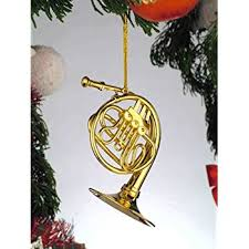 amazon com miniature french horn christmas ornament home u0026 kitchen