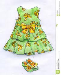 dress for little pencil sketch stock illustration image
