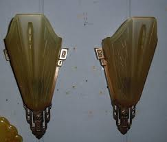 Antique Art Deco Wall Sconces Lot Of Four Pairs Vintage Virden Rayburn Art Deco Wall Sconces Art