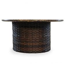 lloyd flanders contempo round woven vinyl fire pit table 38099