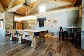 Rustic Pool Table Lights by Light Wood Floors Gray Walls Family Room Rustic With Barn Wood