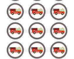 firefighter cupcake toppers fireman badge clipart