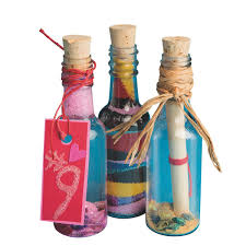 amazon com s u0026s worldwide plastic sand art bottles with cork pack
