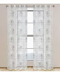 Sheer Grommet Curtains Big Deal On Paris Classic French Print Semi Sheer Grommet Curtain