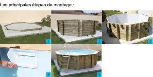piscine hors sol bois bahia 6 10 x 4 00 m h 1 30 m liner bleu