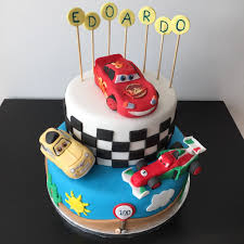 car cake cars cake with lightning mcqueen luigi and francesco