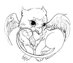 acorns to color and print cute griffin by acorna252525 on
