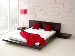 Lower Bed Frame Height Low Profile Bed Frame Wood Glamorous Bedroom Design