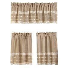 Brown Burlap Curtains Country Burlap Curtains