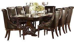 9 dining room set homelegance orleans 9 pedestal dining room set in