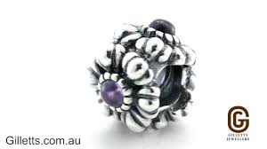 gillett s jewelers pandora february birthstone flower charm pandora code 790580am