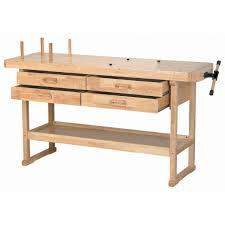 Work Benches With Storage 60 In 4 Drawer Hardwood Workbench Woodworking Tools
