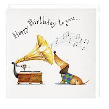 happy birthday to you musical dachshund greeting card dachshund