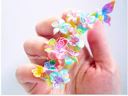 acrylic 3d butterfly nails nailbees