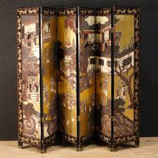 vintage room divider vintage french painted chinoiserie screen 1920s for sale at pamono