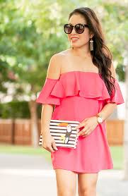 pink off shoulder dress gladiator sandals cute u0026 little